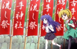 Rating: Safe Score: 13 Tags: furude_rika higurashi_no_naku_koro_ni houjou_satoko pantyhose sakai_kyuuta User: Radioactive