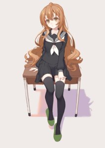 Rating: Safe Score: 52 Tags: aisaka_taiga icarus_(artist) seifuku thighhighs toradora! User: Mr_GT