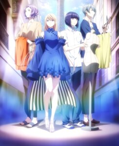 Rating: Safe Score: 10 Tags: ayano_too dress fujito_chiyuki hasegawa_kokoro runway_de_waratte tagme tsumura_ikuto User: blooregardo
