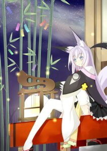 Rating: Safe Score: 16 Tags: kitsune makura_tea tail thighhighs User: SciFi