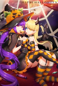 Rating: Safe Score: 29 Tags: ass bikini dress halloween heterochromia horns pantsu pointy_ears shimapan swimsuits tail thighhighs wings witch y.i._(lave2217) User: Mr_GT