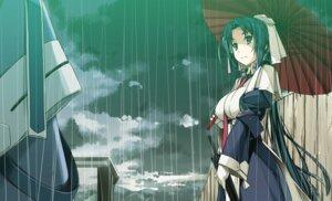 Rating: Safe Score: 35 Tags: kyoukai_senjou_no_horizon musashi_(horizon) shikei umbrella User: RyuZU