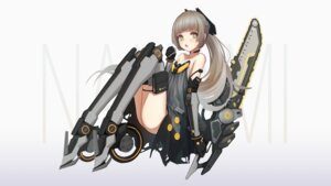 Rating: Questionable Score: 11 Tags: +) chainsaw garter mecha_musume punishing:_gray_raven skirt_lift User: Dreista