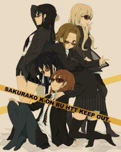 Rating: Safe Score: 42 Tags: akiyama_mio hirasawa_yui karuha k-on! kotobuki_tsumugi nakano_azusa pantyhose tainaka_ritsu thighhighs uniform User: Nekotsúh