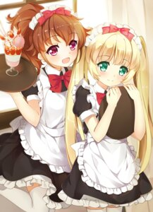 Rating: Safe Score: 26 Tags: hayakawa_kokona idol_memories kikistark lin_vivi maid thighhighs waitress User: Mr_GT