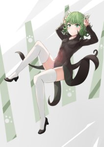 Rating: Safe Score: 30 Tags: animal_ears dress heels ki_kimi nopan one_punch_man tatsumaki_(one_punch_man) thighhighs User: Mr_GT