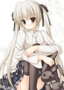 Rating: Safe Score: 55 Tags: ichiroku jpeg_artifacts kasugano_sora pantsu thighhighs yosuga_no_sora User: 椎名深夏