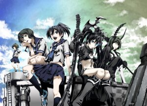 Rating: Safe Score: 20 Tags: black_rock_shooter black_rock_shooter_(character) dead_master kuroi_mato munakata seifuku takanashi_yomi vocaloid yuu_(black_rock_shooter) User: Brufh