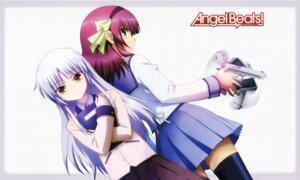 Rating: Safe Score: 25 Tags: angel_beats! detexted gun seifuku suzuki_misaki tenshi thighhighs yurippe User: acas