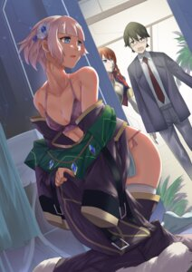 Rating: Questionable Score: 44 Tags: bra cleavage megane meteora_osterreich mizushiro_souta open_shirt pantsu re:creators selestia_yupitiria thighhighs undressing worldless User: Mr_GT
