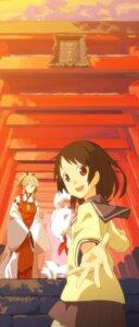 Rating: Safe Score: 17 Tags: fushimi_inari inari_konkon_koi_iroha kon_(inari_konkon_koi_iroha) miko seifuku seu_kaname ukanomitama_no_kami User: zero|fade