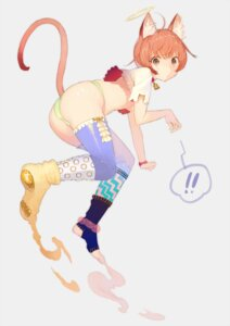 Rating: Safe Score: 48 Tags: animal_ears nekomimi noco pantsu tail thighhighs User: dyj