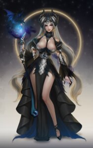 Rating: Safe Score: 34 Tags: cleavage dress horns sinamon weapon User: Mr_GT