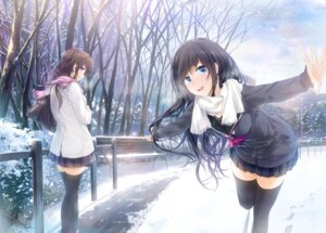 Rating: Questionable Score: 46 Tags: seifuku stockings thighhighs wingheart User: SubaruSumeragi