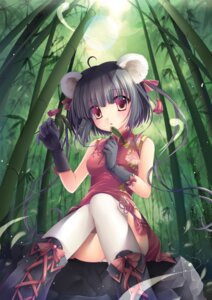 Rating: Safe Score: 64 Tags: animal_ears chinadress pantsu sousouman thighhighs User: gnarf1975