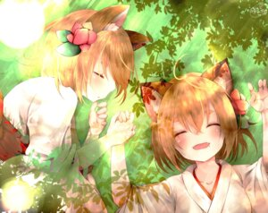 Rating: Safe Score: 38 Tags: animal_ears chita_(ketchup) japanese_clothes signed User: Mr_GT