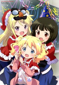 Rating: Safe Score: 50 Tags: alice_cartelet christmas kin'iro_mosaic kujou_karen oomiya_shinobu ozeki_miyabi seifuku User: drop