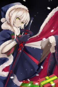 Rating: Safe Score: 28 Tags: christmas fate/grand_order pantyhose saber saber_alter sword z_z User: mash