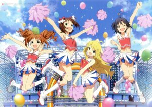 Rating: Safe Score: 36 Tags: amami_haruka cheerleader hoshii_miki kikuchi_makoto takatsuki_yayoi the_idolm@ster User: animeprincess