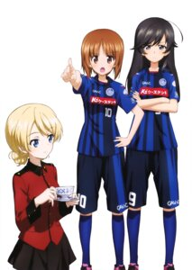 Rating: Safe Score: 20 Tags: darjeeling girls_und_panzer isuzu_hana nishizumi_miho uniform User: drop