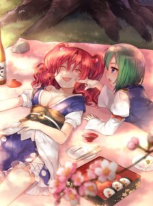Rating: Safe Score: 25 Tags: akayan cleavage no_bra onozuka_komachi open_shirt shikieiki_yamaxanadu touhou User: Mr_GT