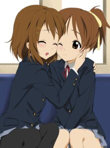 Rating: Safe Score: 30 Tags: gen@chikuwa hirasawa_ui hirasawa_yui jpeg_artifacts k-on! pantyhose seifuku User: Chris086