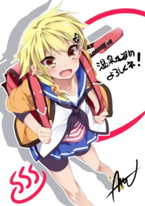 Rating: Safe Score: 15 Tags: bike_shorts kannon_toyomi mtu onsen_musume seifuku User: saemonnokami