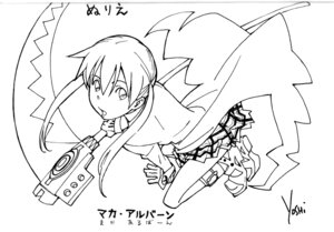 Rating: Safe Score: 5 Tags: line_art maka_albarn monochrome soul_eater User: Radioactive