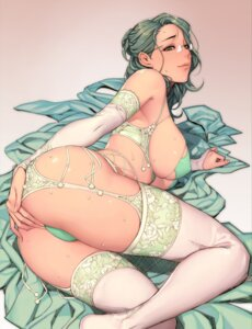 Rating: Questionable Score: 83 Tags: ass digital_version erect_nipples lingerie megane oda_non pantsu stockings thighhighs thong User: Radioactive