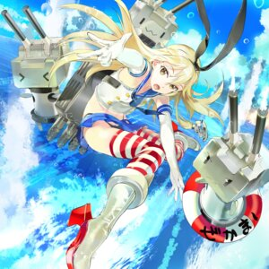 Rating: Safe Score: 57 Tags: 119 kantai_collection pantsu rensouhou-chan shimakaze_(kancolle) thighhighs User: blooregardo