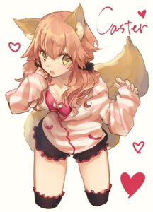 Rating: Safe Score: 45 Tags: animal_ears bikini_top caster_(fate/extra) cleavage fate/extra fate/extra_ccc fate/grand_order fate/stay_night hino_hinako kitsune open_shirt tail User: nphuongsun93