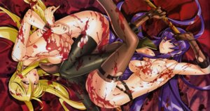 Rating: Questionable Score: 65 Tags: areola blood busujima_saeko erect_nipples fixed highschool_of_the_dead inazuma marikawa_shizuka naked thighhighs torn_clothes User: Tsumikiria