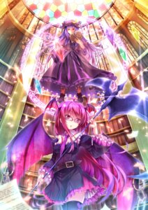 Rating: Safe Score: 42 Tags: dabadhi koakuma megane patchouli_knowledge thighhighs touhou wings User: Nekotsúh
