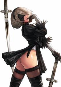 Rating: Safe Score: 31 Tags: ass dress kim_jungon leotard nier_automata sword thighhighs yorha_no.2_type_b User: mash