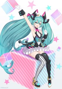 Rating: Safe Score: 24 Tags: bibboss39 hatsune_miku magical_mirai tattoo thighhighs vocaloid User: Mr_GT