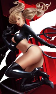 Rating: Questionable Score: 38 Tags: ass bra cleavage heels pantsu persona_5 takamaki_anne thighhighs thong weapon wickellia User: Darkthought75