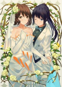 Rating: Safe Score: 29 Tags: crossdress dress hibike!_euphonium kousaka_reina oumae_kumiko wedding_dress zicai_tang User: Mr_GT