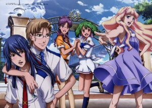 Rating: Safe Score: 9 Tags: dress macross macross_frontier matsuura_nanase megane mikhail_buran ootsuka_yae ranka_lee saotome_alto seifuku sheryl_nome summer_dress User: Aurelia