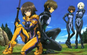 Rating: Safe Score: 27 Tags: bodysuit detexted itou_katsunobu muvluv muvluv_alternative stella_bremer sword takamura_yui tarisa_manandal total_eclipse yuuya_bridges User: StardustKnight