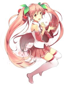 Rating: Safe Score: 24 Tags: hatsune_miku sakura_miku thighhighs unya vocaloid User: fairyren