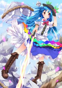 Rating: Safe Score: 39 Tags: dress hinanawi_tenshi niro sword touhou User: fairyren