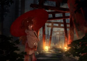 Rating: Safe Score: 23 Tags: animal_ears japanese_clothes landscape tagme tail umbrella User: BattlequeenYume