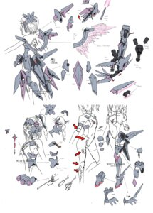 Rating: Safe Score: 17 Tags: armor cleavage gun leotard mecha_musume sword thighhighs torn_clothes watermark wdy1000 weapon wings User: Kaixa