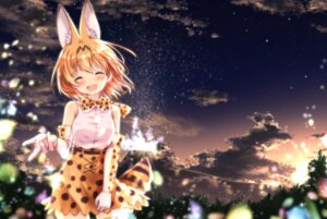 Rating: Safe Score: 31 Tags: animal_ears kemono_friends serval tail thighhighs uneune User: Mr_GT