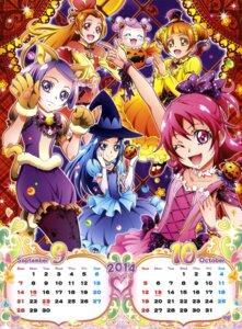 Rating: Questionable Score: 8 Tags: ai-chan_(precure) aida_mana animal_ears calendar dokidoki!_precure halloween hishikawa_rikka kenzaki_makoto madoka_aguri pretty_cure takahashi_akira witch yotsuba_alice User: drop