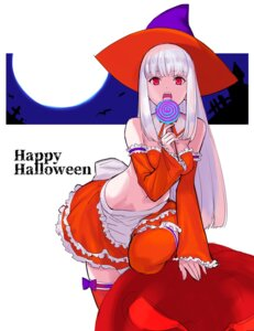 Rating: Safe Score: 24 Tags: capcom_fighting_jam cleavage halloween ingrid_(street_fighter) machimura_komori thighhighs witch User: Mr_GT
