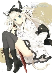 Rating: Questionable Score: 86 Tags: heels lolita_fashion luminocity peco shimotsuki_potofu sword tail thighhighs wa_lolita User: Twinsenzw