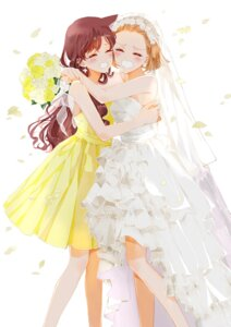 Rating: Safe Score: 19 Tags: arch_lapin detective_conan dress mouri_ran suzuki_sonoko wedding_dress User: charunetra