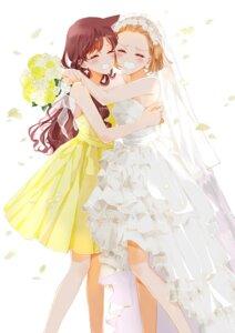 Rating: Safe Score: 22 Tags: arch_lapin detective_conan dress mouri_ran suzuki_sonoko wedding_dress User: charunetra