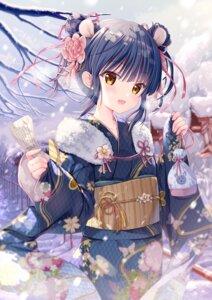 Rating: Safe Score: 49 Tags: animal_ears kimono kodama_haruka twinbox twinbox_school User: Mr_GT